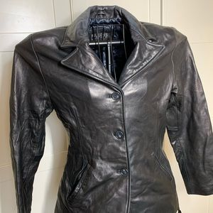 Wilson's Leather Jacket Womens Size Medium Long